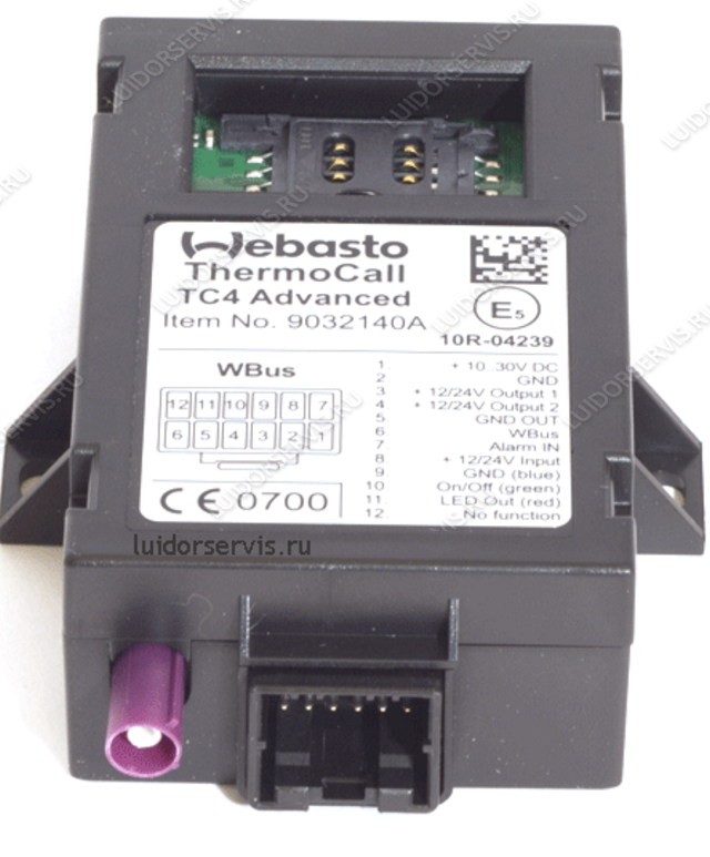 ThermoCall Advanced TC4 Webasto