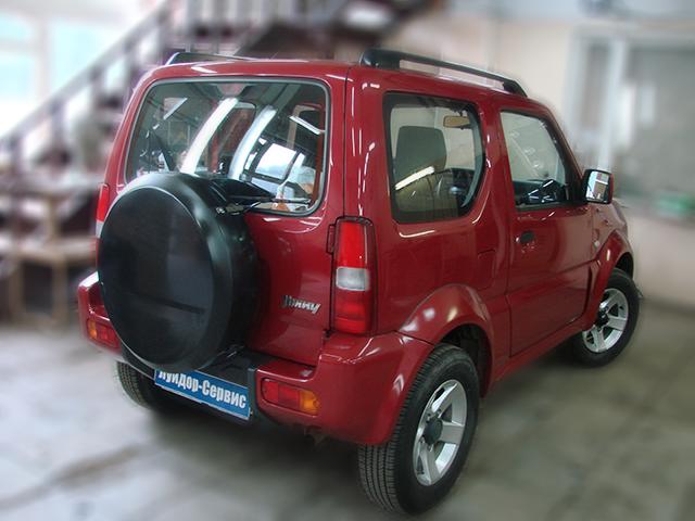 Установка головного устройства 2 Din в Suzuki Jimny