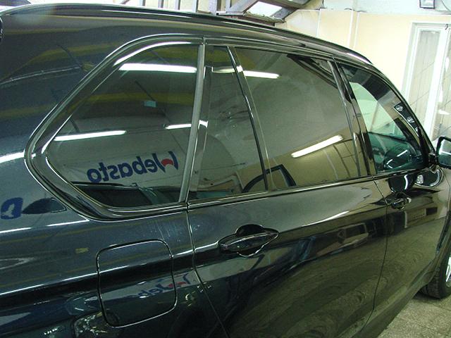 """Тонирование BMW X5 (задняя полусфера 5%, передние """"атермльная"""")"""