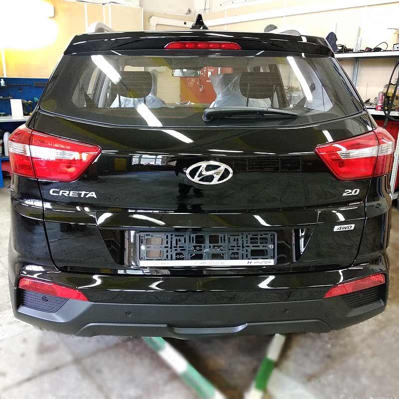Hyundai Creta установка pandora 9x и головного устройства